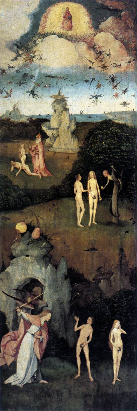 Triptych of Haywain (left wing)