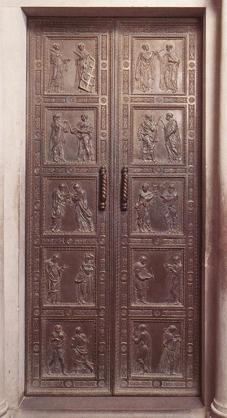 Door with the representation of Martyrs