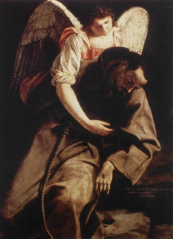St Francis and the Angel