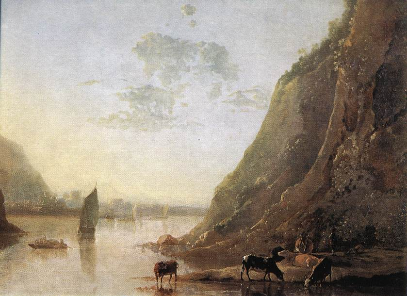 River-bank with Cows