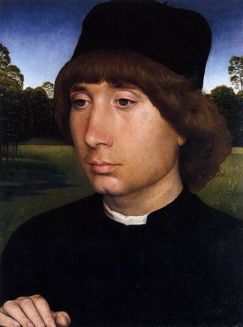 Portrait of a Young Man before a Landscape