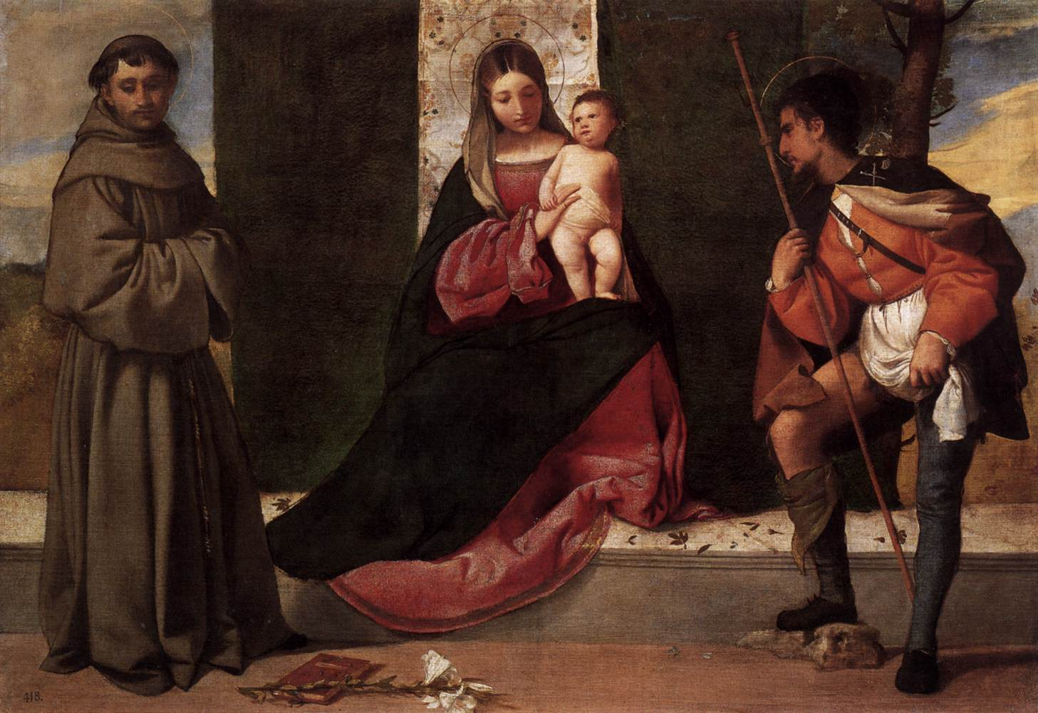Madonna with the Child, St Anthony of Padua and St Roch