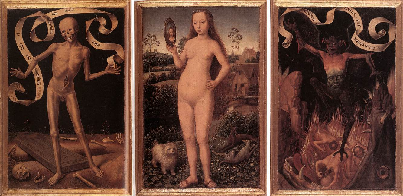 Triptych of Earthly Vanity and Divine Salvation (front)