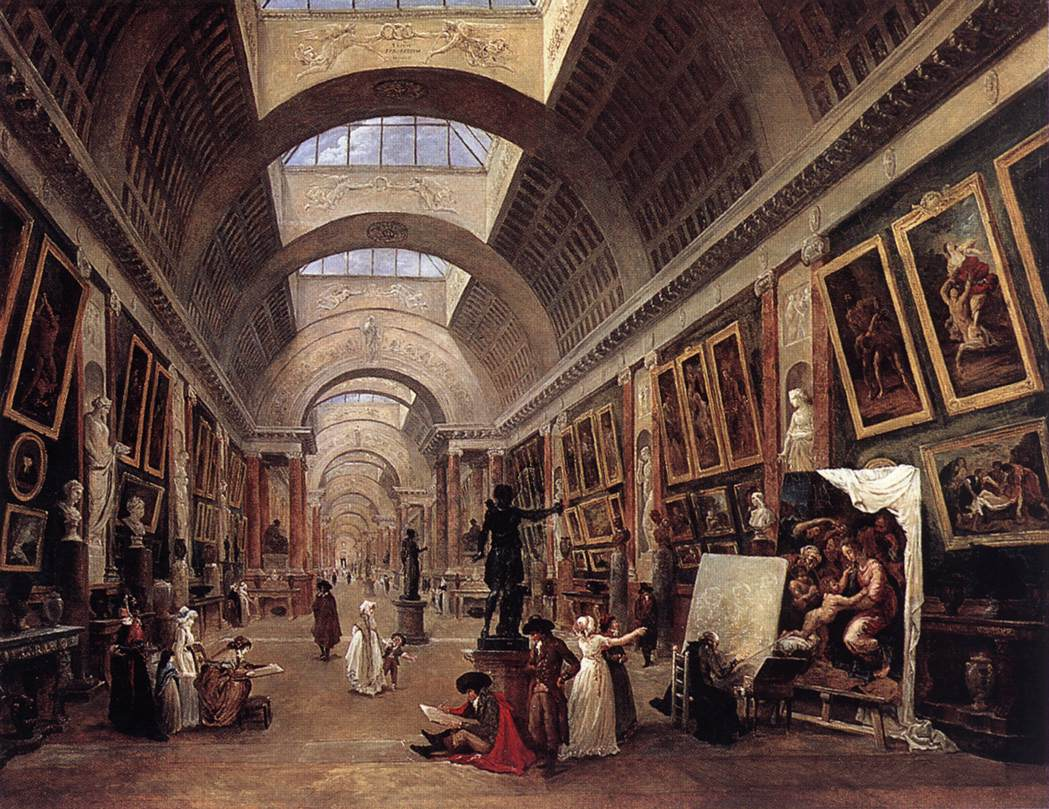Design for the Grande Galerie in the Louvre