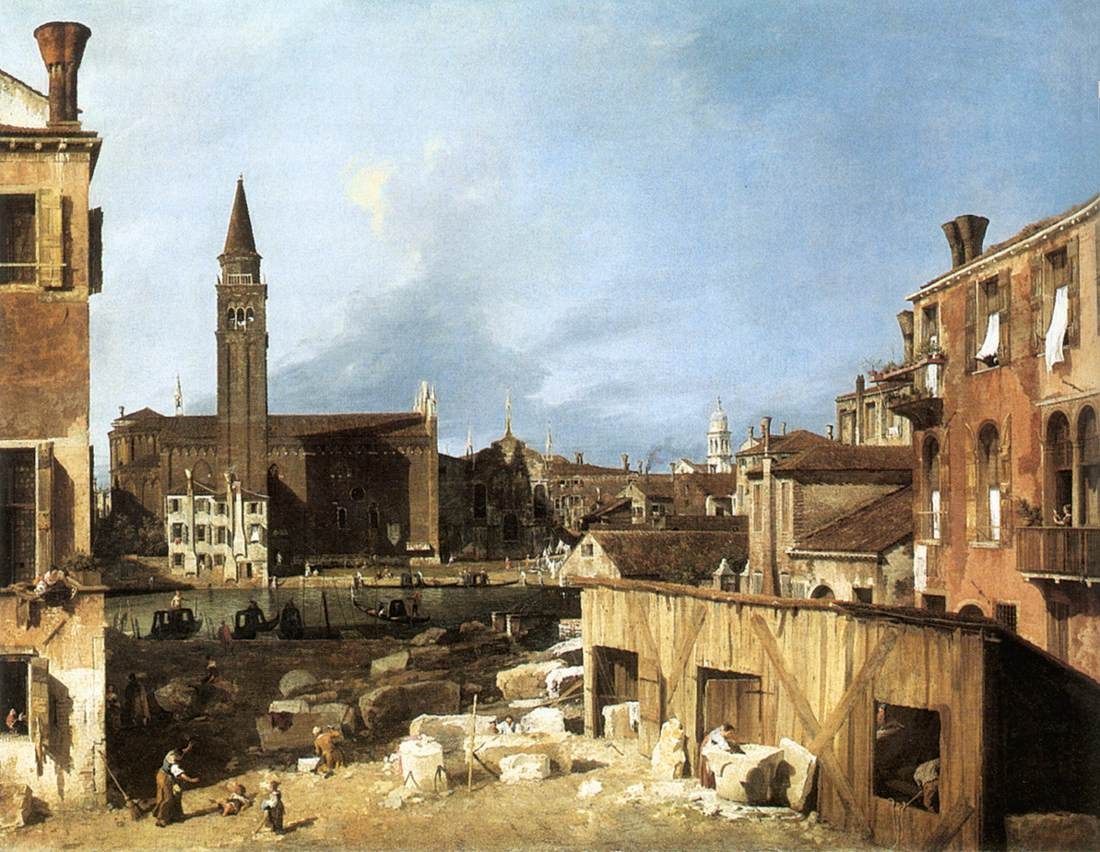 stone masons yard, Canaletto