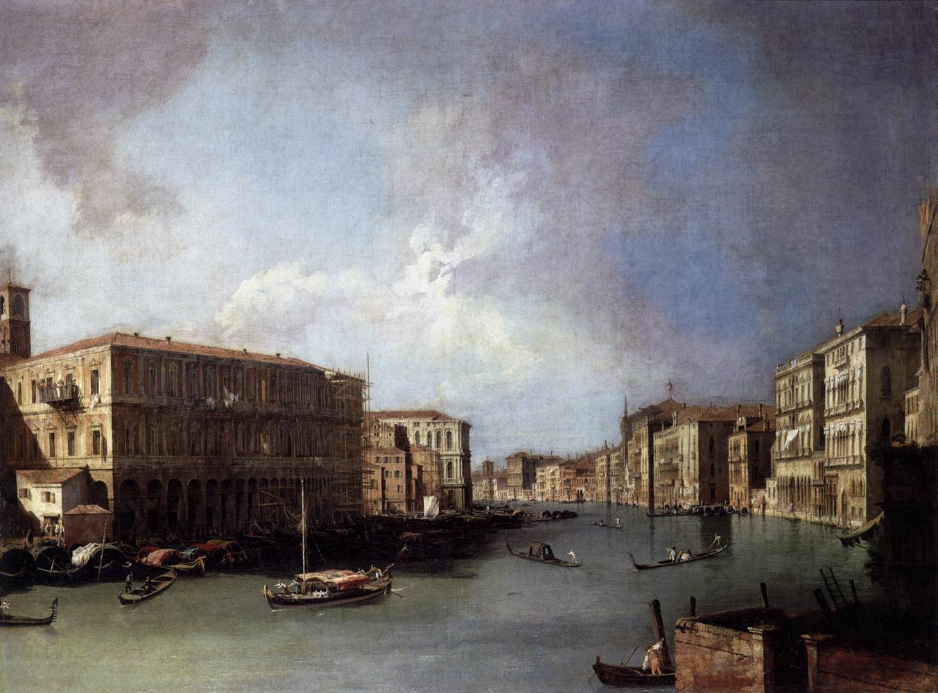 Grand Canal: Looking North from Near the Rialto Bridge