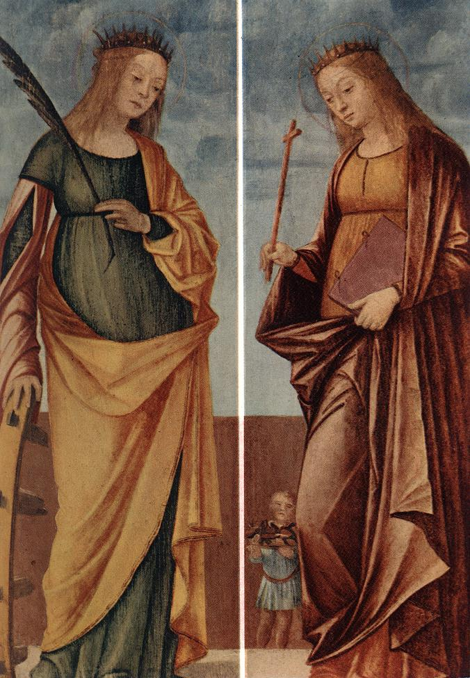 St Catherine of Alexandria and St Veneranda