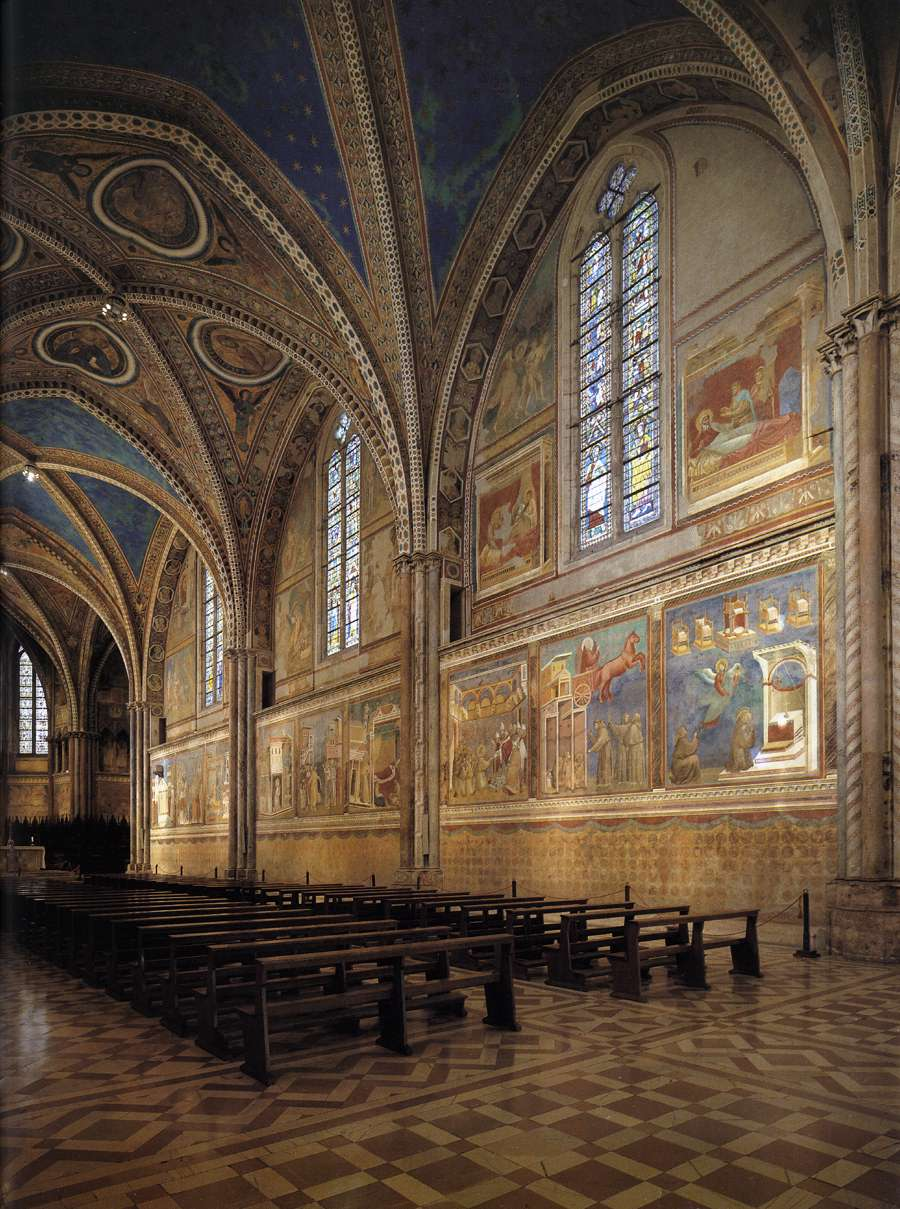 View of the interior towards the altar