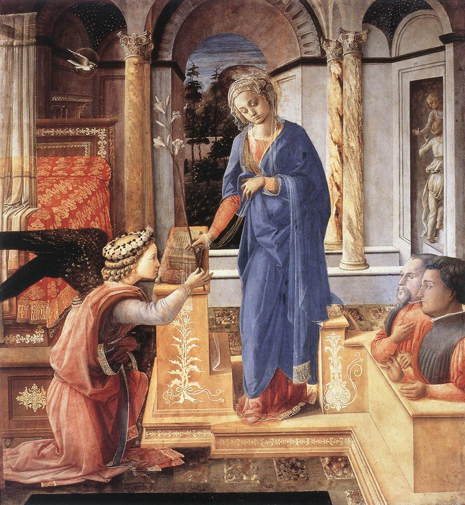 The Annunciation with two Kneeling Donors
