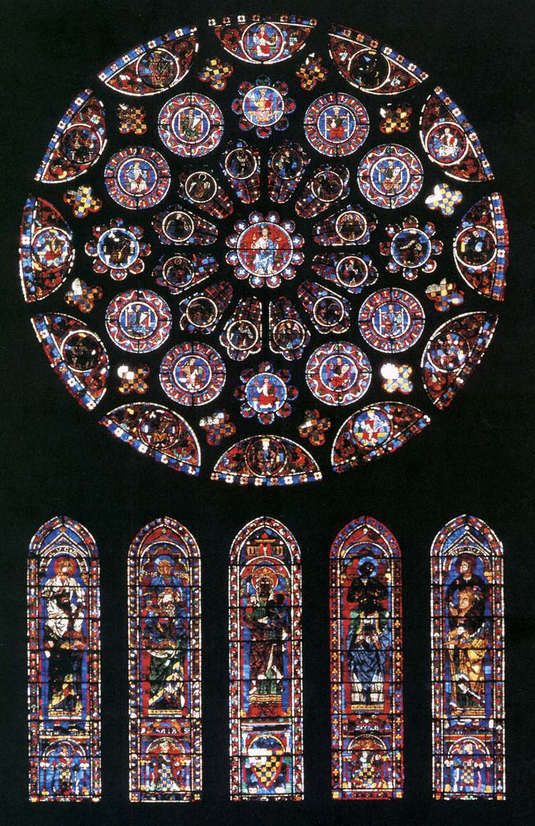 Roseton Lib Art Imgpainting 7 2 11127 South Rose Window French Gothic Glass Painter