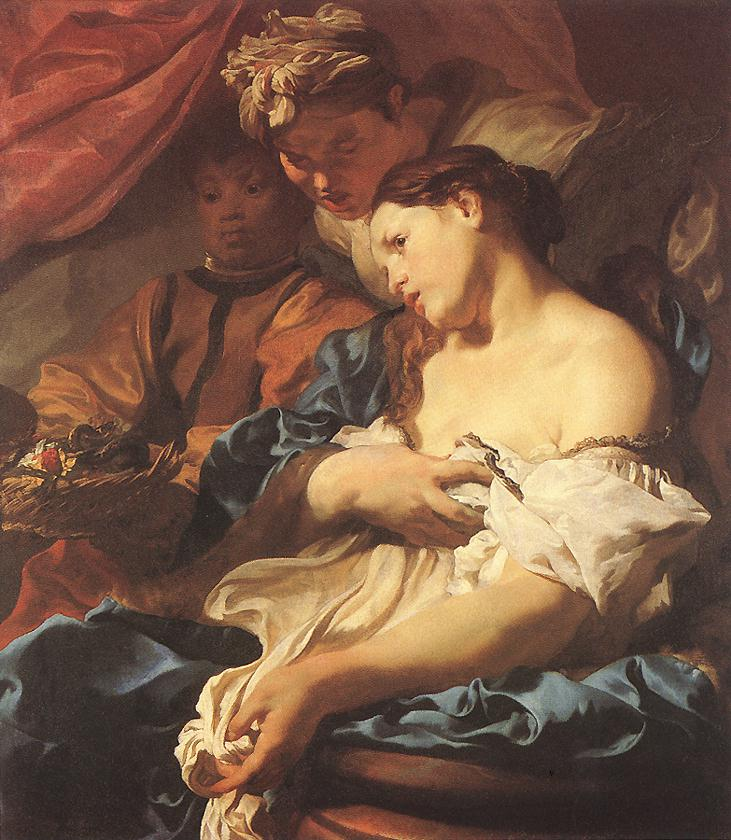 la morte di cleopatra