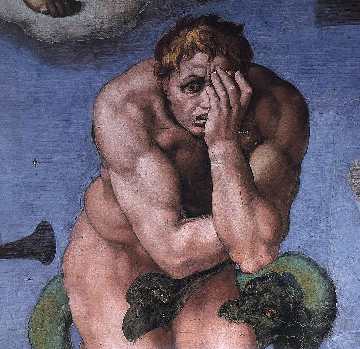 Michelangelo Buonarrati. Last Judgment (detail)