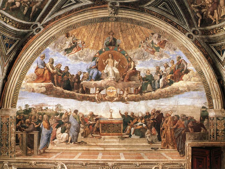 a history of the school of athens by rafael sanzio in 16th century He best captures the spirit of humanism in the school of athens, a fresco in the apostolic palace that depicts the greatest minds of all time (plato, aristotle, pythagoras and archimedes, among others) united in a sumptuous hall.