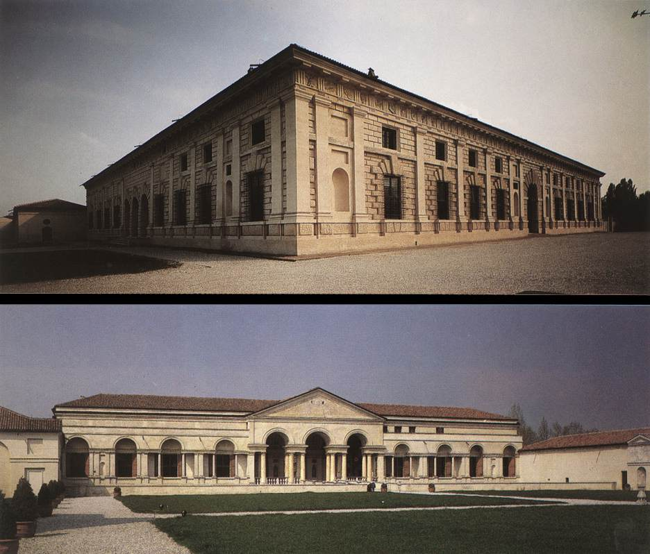 Façade and courtyard view
