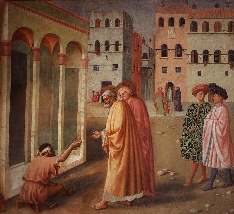Healing of the Cripple and Raising of Tabatha (left view)