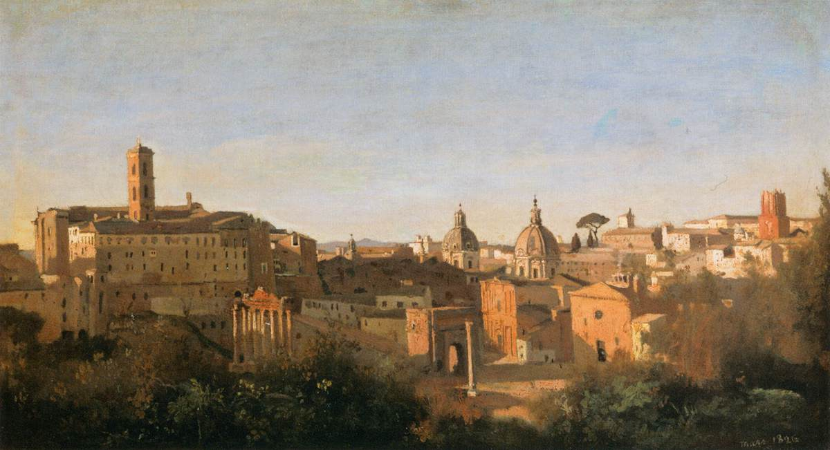 The Forum Seen from the Farnese Gardens