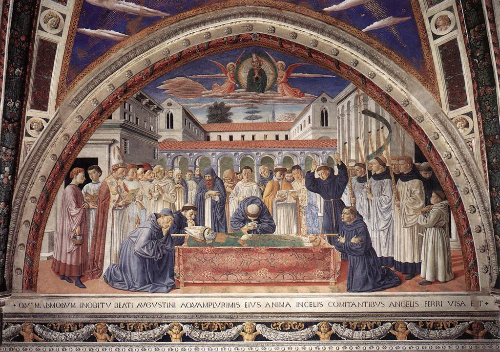 Funeral of St Augustine (scene 17, south wall)