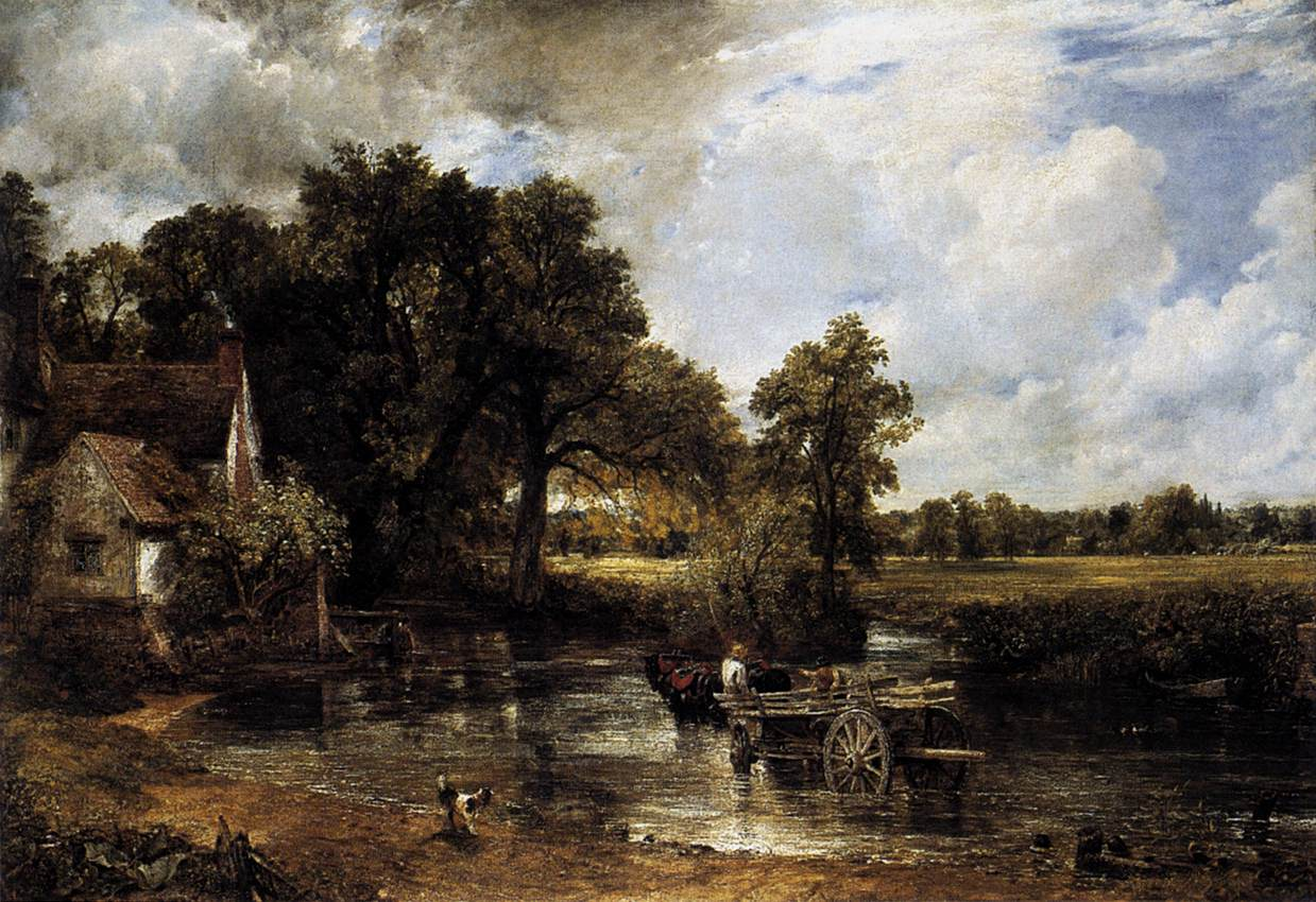 John Constable The Haywain an-overshot-mill-by-th...