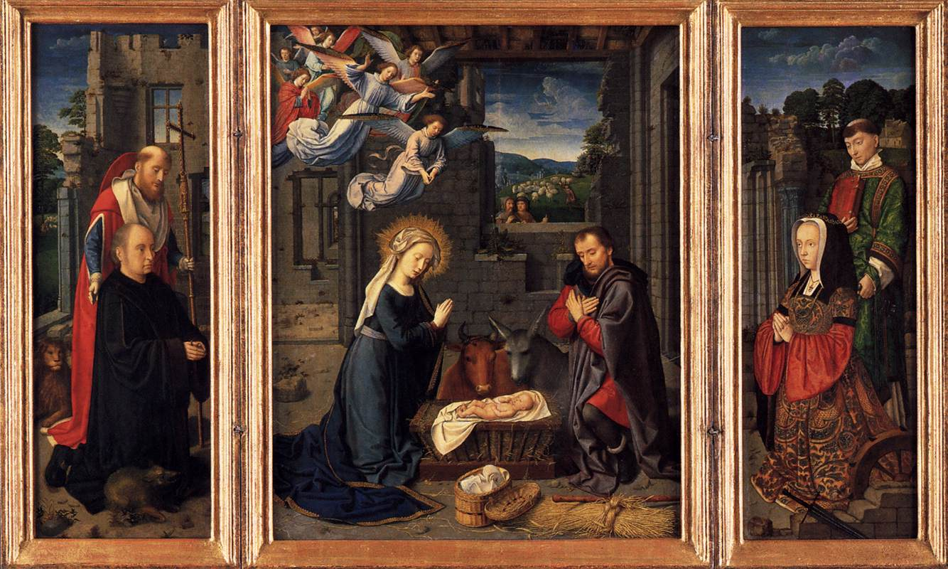 Triptych with the Nativity