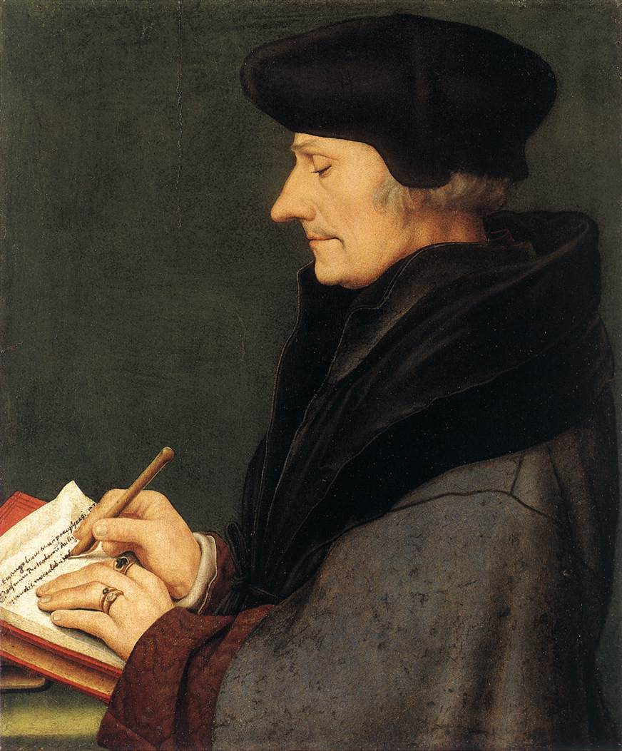 Portrait of Erasmus of Rotterdam Writing