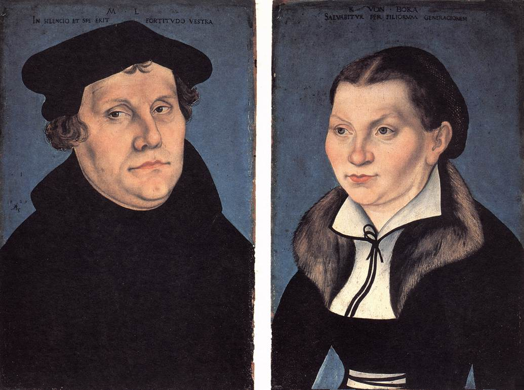 Diptych with the Portraits of Luther and his Wife