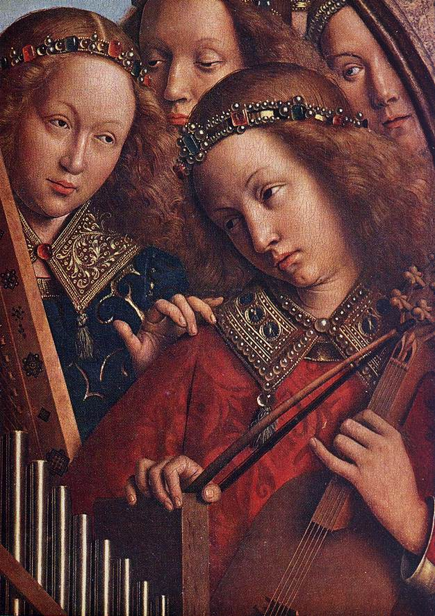 The Ghent Altarpiece: Angels Playing Music