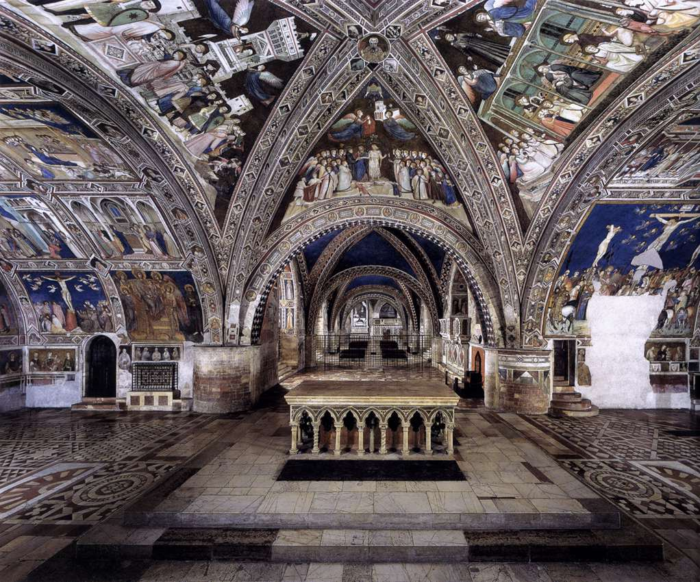 Panoramic view of the frescoes