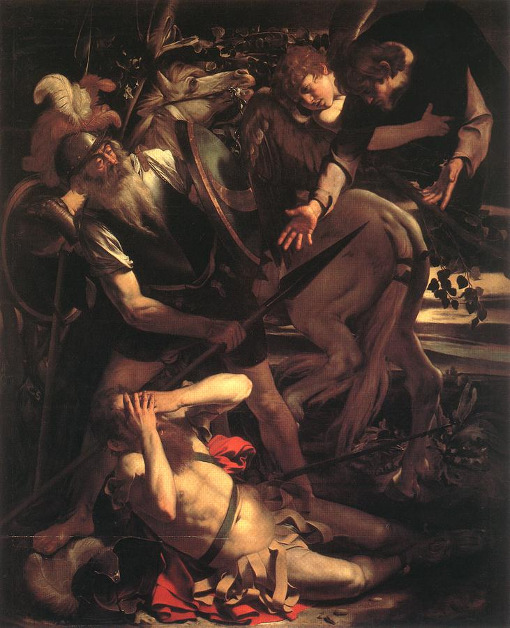 caravaggio-conversion-of-st-paul Paints Art