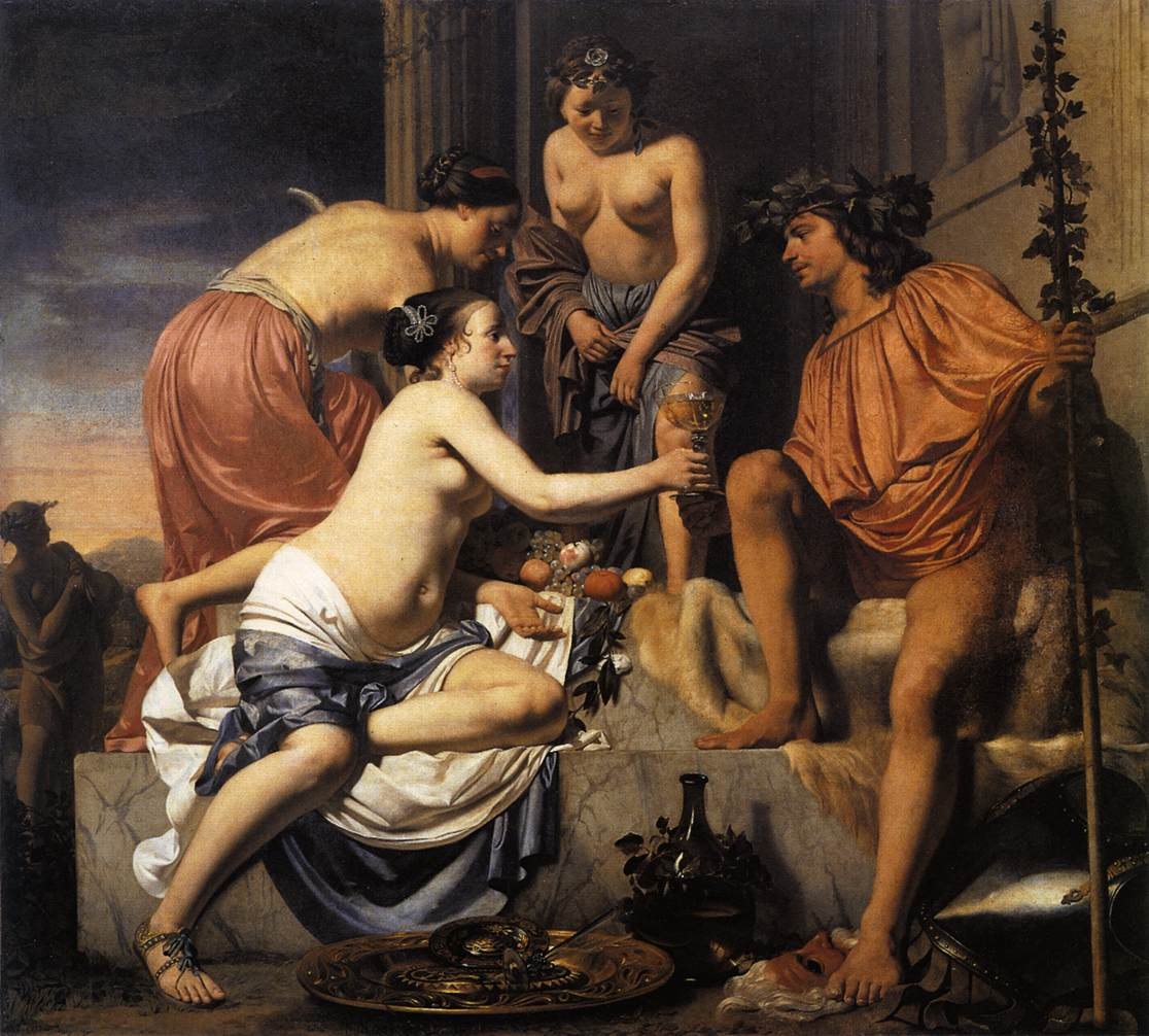 Nymphs Offering the Young Bacchus Wine, Fruit and Flowers