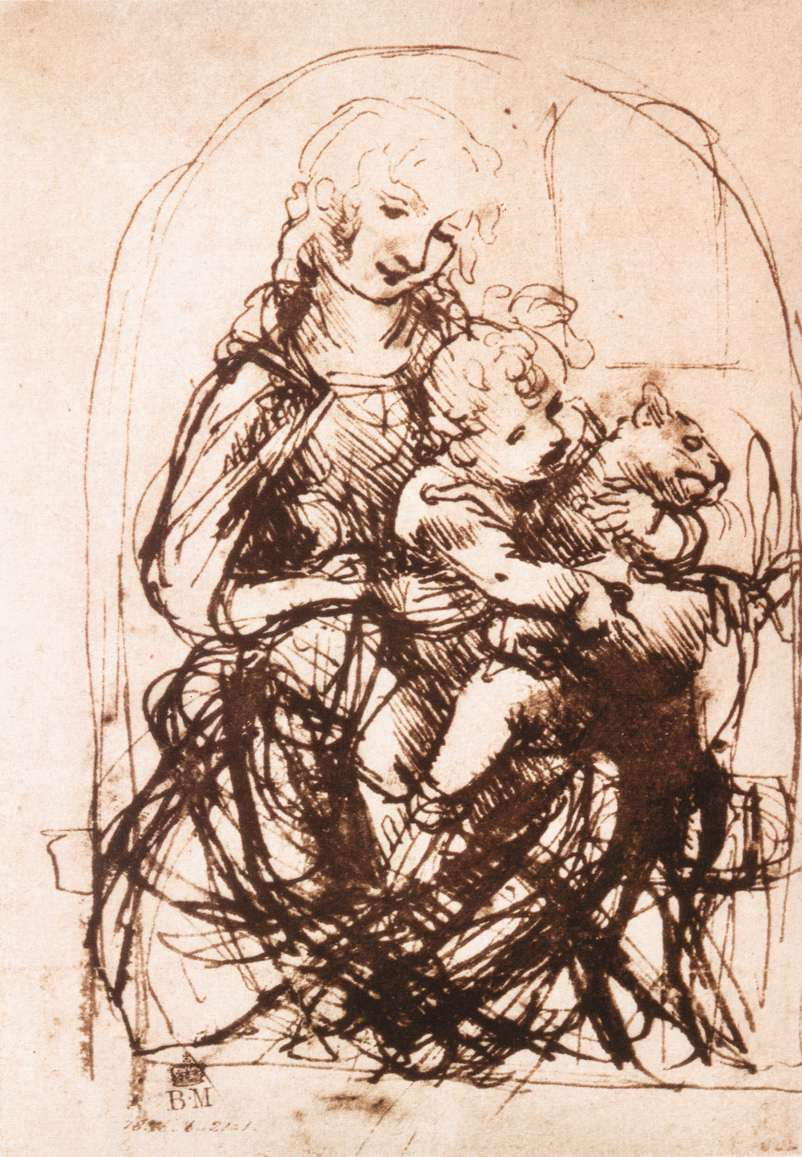 Study of the Madonna and Child with a Cat