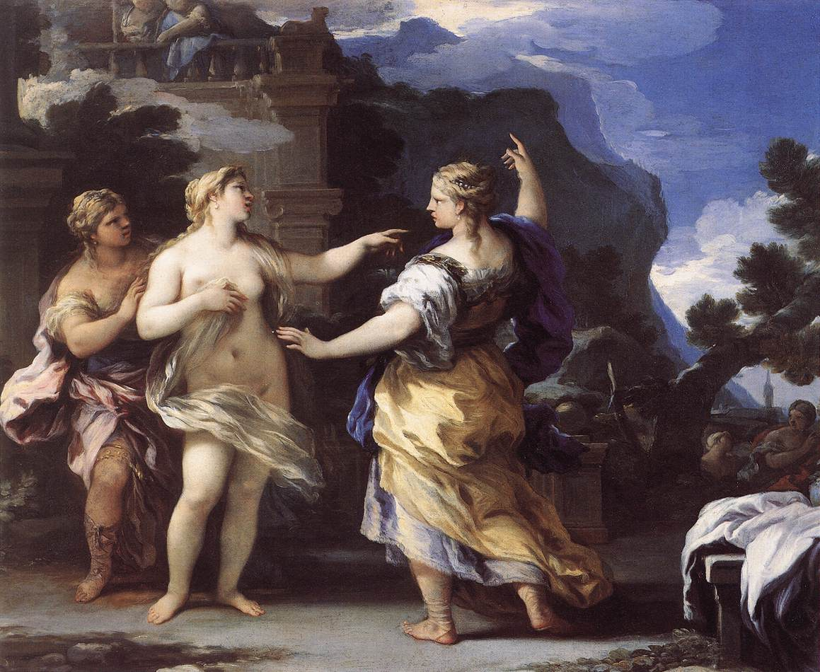 Venus Punishing Psyche with a Task (?)