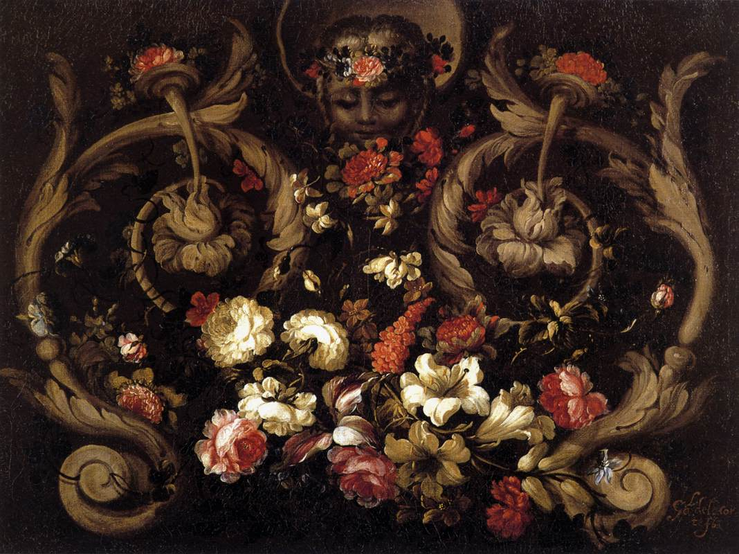 Grotesques with Flowers
