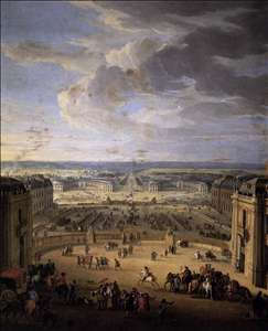 The Stables Viewed from the Château at Versailles