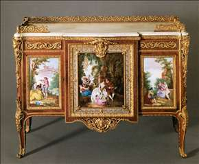 Commode with Five Porcelain Plaques