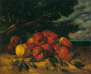 Red Apples at the Foot of a Tree