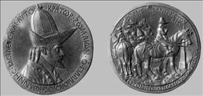 Medal of Emperor John VIII Palaeologus (obverse and reverse)