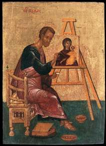 Luke Paints the Icon of the Mother of God Hodegetria