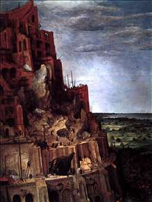 The Tower of Babel (detail)