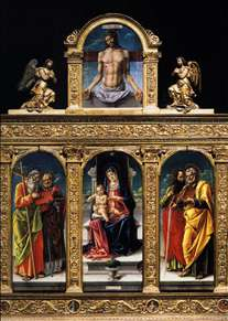 Virgin Enthroned with Child and Saints