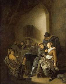 Amorous Couple in an Inn