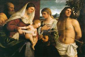 The Holy Family with St Catherine, St Sebastian and a Donor