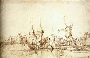 The Oostpoort (East Gate) at Delft
