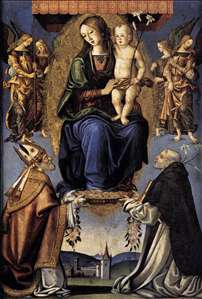 Madonna and Child with Sts Severino and Dominic