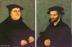 Portraits of Martin Luther and Philipp Melanchthon