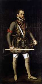 Portrait of Philip II in Armour