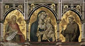 Madonna and Child with St Francis and St John the Baptist