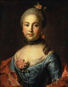 Portrait of a Woman in a Blue Dress