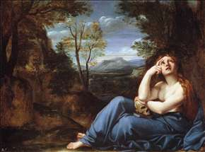 The Penitent Magdalen in a Landscape