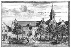 View of the Oude Gasthuis (Old Hospital) of Delft