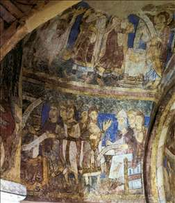 Frescoes in the crypt